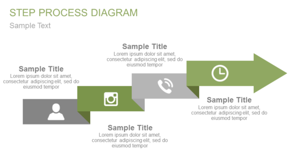 Steps diagram PowerPoint template