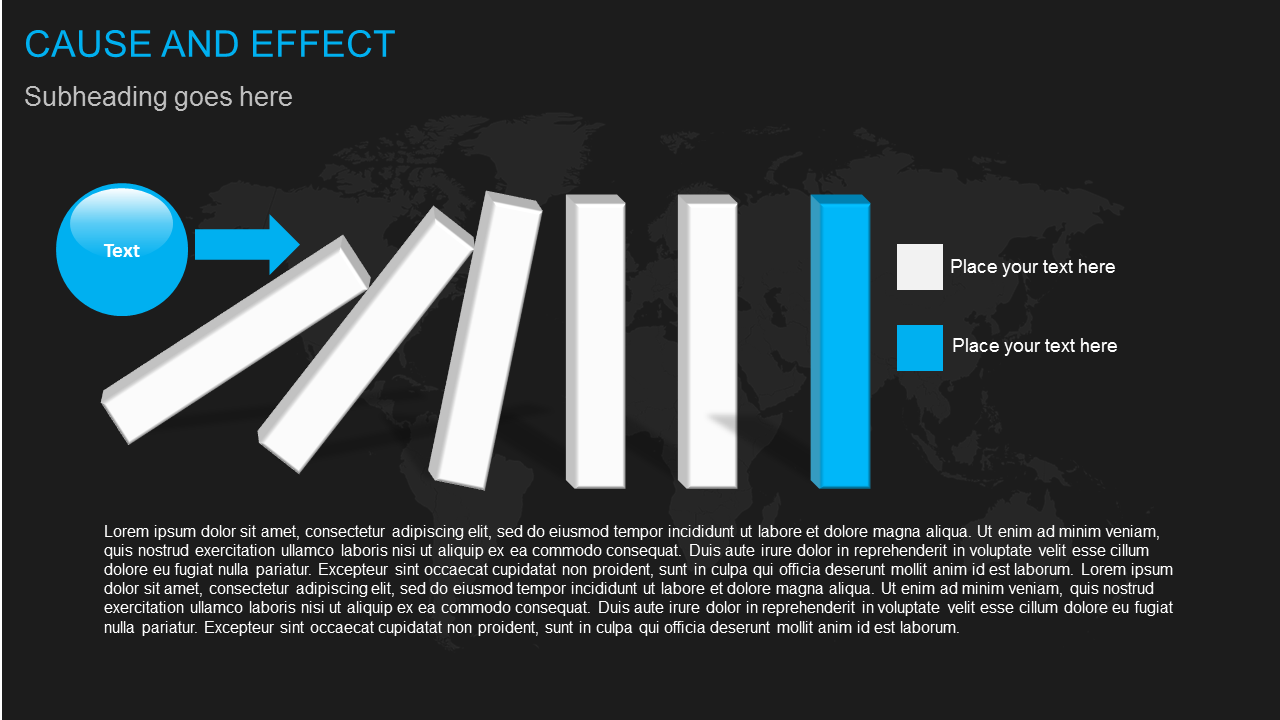 Cause and Effect    diagram     Powerpoint presentation slide templates