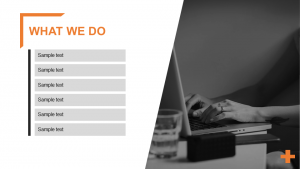 What we do powerpoint template