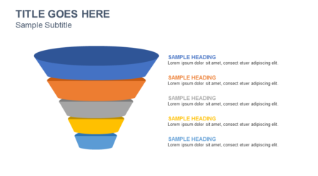 Funnel diagram PowerPoint Slide