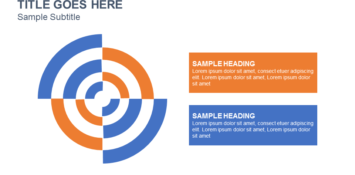 Radial Bar Comparison PowerPoint Template